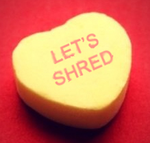 Let's shred hard drives candy heart