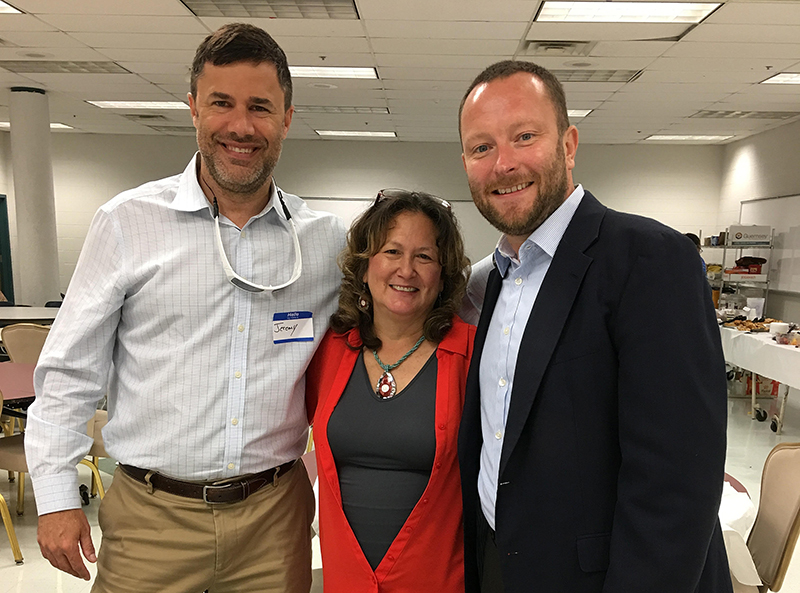 Jeremy Farber (L) with Sue Collins, Career and Transition Resource Teacher and Ken Crum (Service Source)