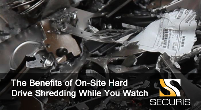 The benefits of on-site hard drive shredding while you watch
