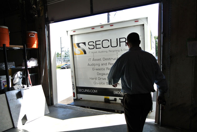 Securis Hard Drive Shredding Truck