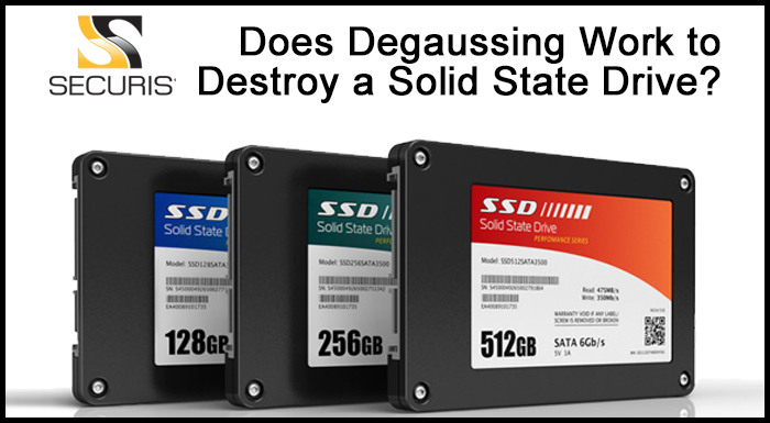 degaussing solid-state drive