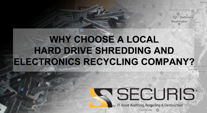 local hard drive shredding and electronics recycling