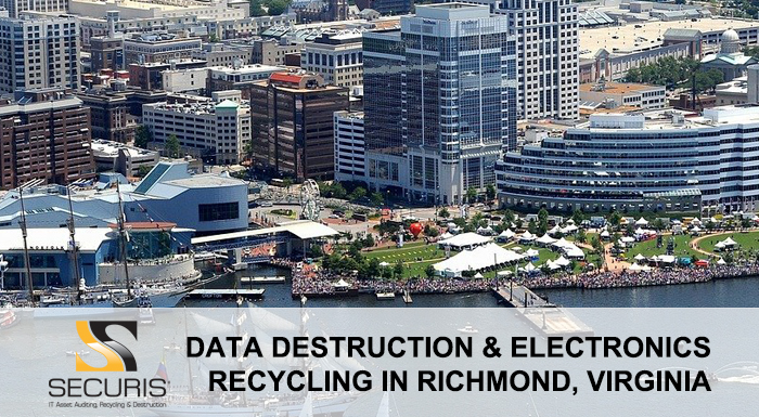 data destruction and electronics recycling in richmond virginia