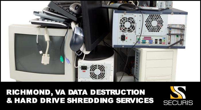 Richmond Virginia Data Destruction and Hard Drive Shredding Areas Serviced